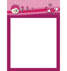 funky pink header vector image vector image
