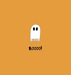 Happy halloween minimalistic greeting card vector