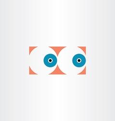 Human eyes icon sign vector