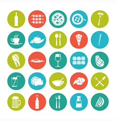 Icon set summer food vector