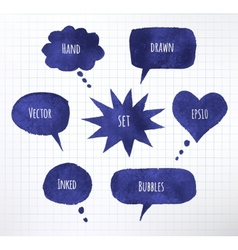 Ink speech bubbles vector image vector image
