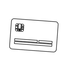 Line cute credit card to pay electronic vector