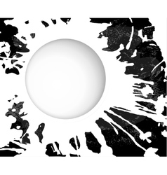 monochrome grunge background blot vector image vector image