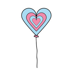 Nice heart balloon decoration design vector