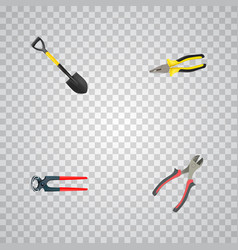 Realistic tongs spade forceps and other vector
