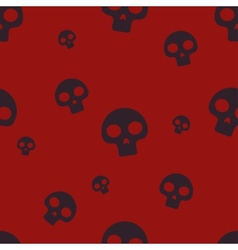 Red Small Skull Pattern vector image