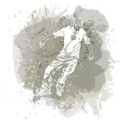 roller skating grunge trend handcrafted splash vector image vector image