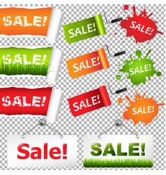 Sale elements set vector