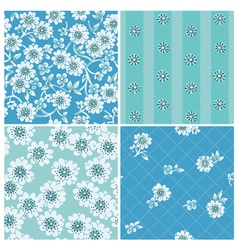 Seamless backgrounds Collection vector image vector image