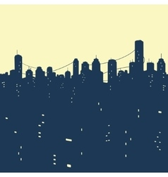 seamless pattern City Buildings vector image vector image