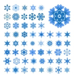 Set of snowflakes for Christmas vector image vector image
