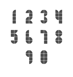 Simple Tiled Numbers vector image vector image