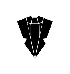 suit and tie icon sign o vector image