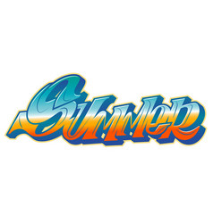 summer word in graffiti style vector image vector image