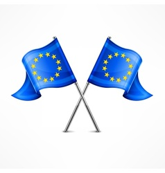 Two European flag vector image vector image
