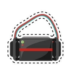 Virtual reality glasses wearable device design cut vector