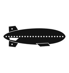 Dirigible balloon icon simple style vector image