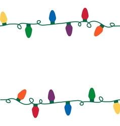 Christmas lights seamless string vector
