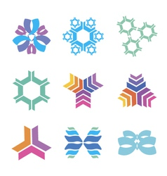 nanotechnology icons vector image