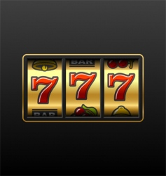 winning in slot machine vector image