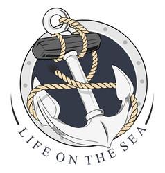 naval anchor vector image