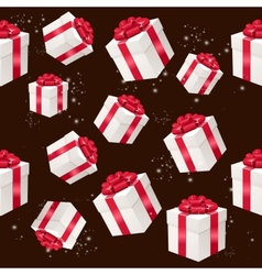 seamless pattern with presents boxes vector image