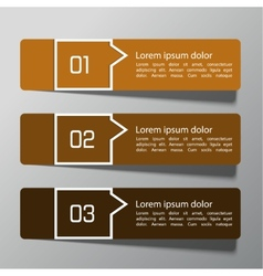 Modern design template from paper and pointers vector