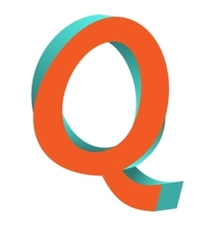 Twisted letter q logo icon design template element vector