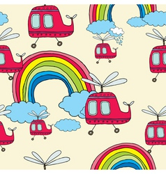 helicopter pattern vector image