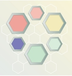 Hexagons background for infographics vector