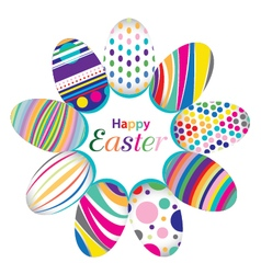 Easter day for egg isolated on design colorful vector