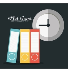 Icon set office instrument design graphic vector