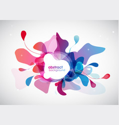 Abstract colored flower background with place for vector