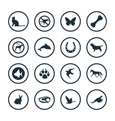 animals pets icons universal set vector image vector image