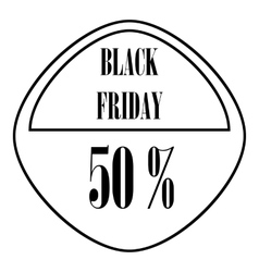 Black Friday sticker 50 percent off icon vector image vector image