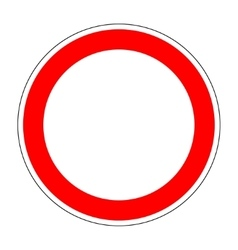 Blank traffic sign isolated on white background 1 vector image