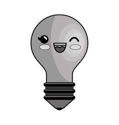 Bulb light education character icon vector