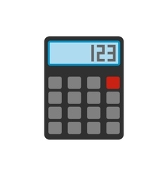 Calculator flat icon vector image vector image
