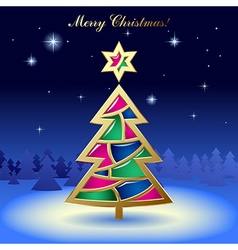 Christmas New-Years greeting card vector image vector image