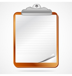 Clipboard notepaper vector