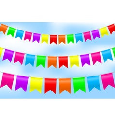 colorful flags on sky vector image vector image