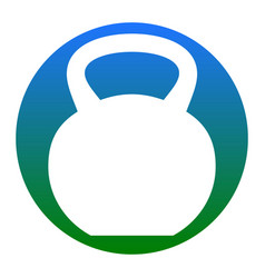 fitness dumbbell sign white icon in vector image