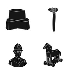 History products and or web icon in black style vector
