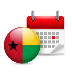 Icon of national day in guinea-bissau vector image vector image