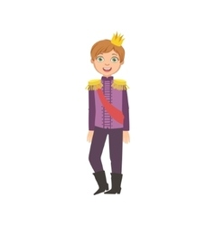 Little Boy With Epaulets Dressed As Fairy Tale vector image