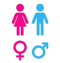 Man and woman - Sign toilet vector image vector image