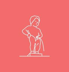 Manneken Pis Brussels vector image