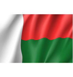 national flag of madagascar vector image