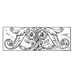 Ornament oblong panel is a german renaissance vector
