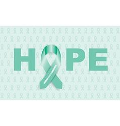 ovarian cancer ribbon vector image vector image